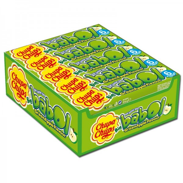 Chupa Chups Big Babol Green Apple 20x6