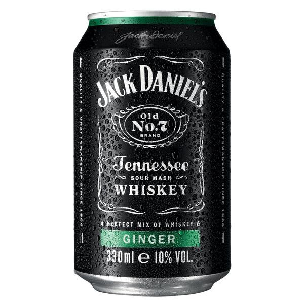 Jack Daniel´s & Ginger 10%Vol. 0,33L