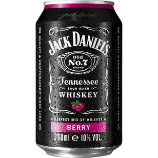 Jack Daniel`s & Berry 10% Vol. 0,33L