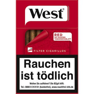 West Red Cigarillos 10x17er 2,70€