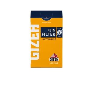 Gizeh Feinfilter Aktivkohle 8mm 10x100