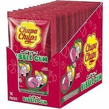 Chupa Chups Cotton Gum Cherry 14x