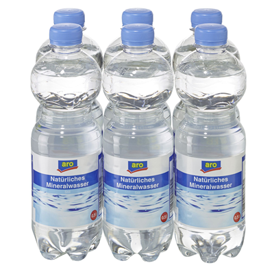 Aro Mineralwasser Naturelle 6x0,5L