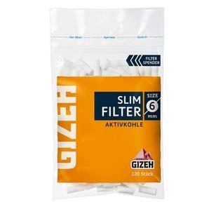 Gizeh Aktivkohle Slim Filter 6mm 20x100