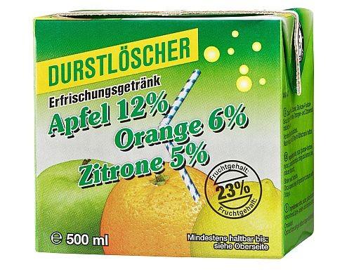 Durstlöscher Apfel Zitrone Orange 12x0,5l